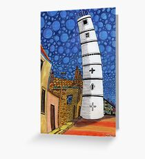 201 - THE LIGHTHOUSE, BLYTH - COLOURED PENCILS - 2008 Greeting Card