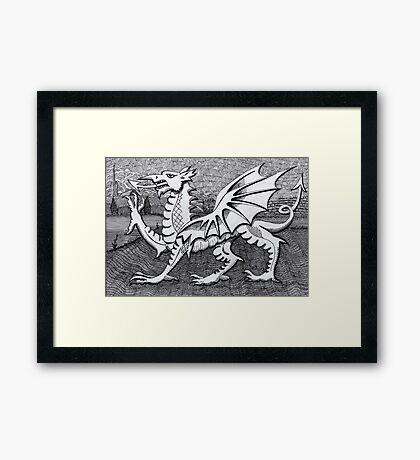 213 - WELSH DRAGON - DAVE EDWARDS - INK - 2007 Framed Print