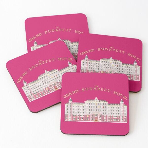 The grand Budapest Hotel Wes movie life acquatic Coasters (Set of 4)