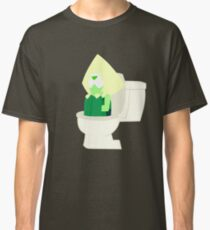 Peridot in the Toilet - Steven Universe ( Catch and Release ) Classic T-Shirt