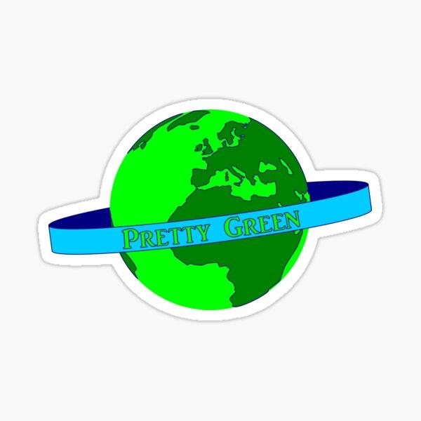 Pretty Green Planet Earth Sticker