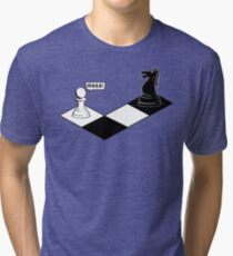 Knight Takes Pawn Tri-blend T-Shirt