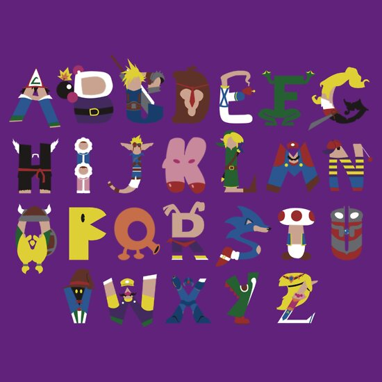 TShirtGifter presents: Gamer's Alphabet