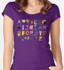 Gamer's Alphabet Women's Fitted Scoop T-Shirt