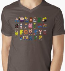 Gamer's Alphabet Mens V-Neck T-Shirt