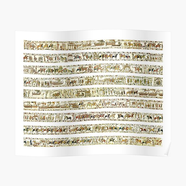 Complete Bayeux Tapestry Poster