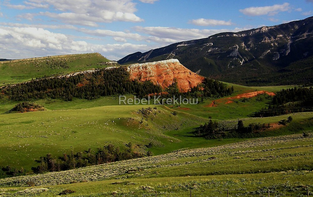 Red Bluffs - Chief Joseph Scenic Byway, Park County, WY by Rebel Kreklow