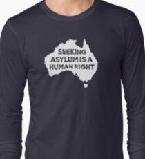 Seeking Asylum Is A Human Right (White) Long Sleeve T-Shirt