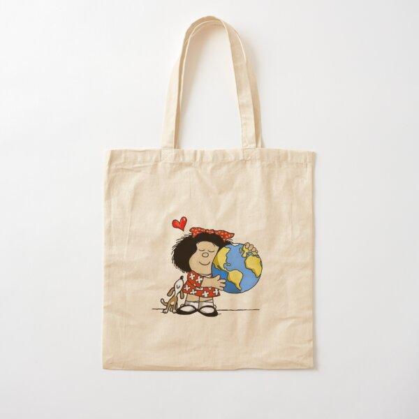 Mafalda, el mundo y su perrito Bolsa de algodón