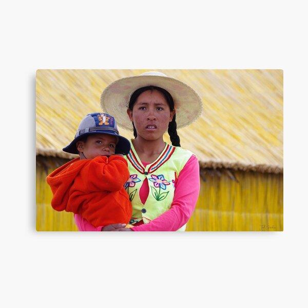 Portrait Inca Impression sur toile