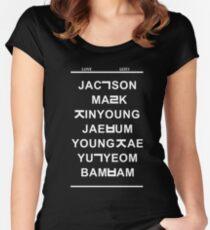 love got7 black Women's Fitted Scoop T-Shirt