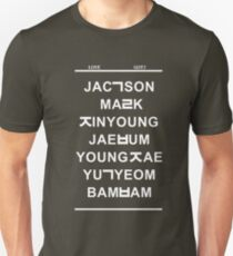 love got7 black T-Shirt