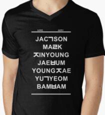 love got7 black Men's V-Neck T-Shirt