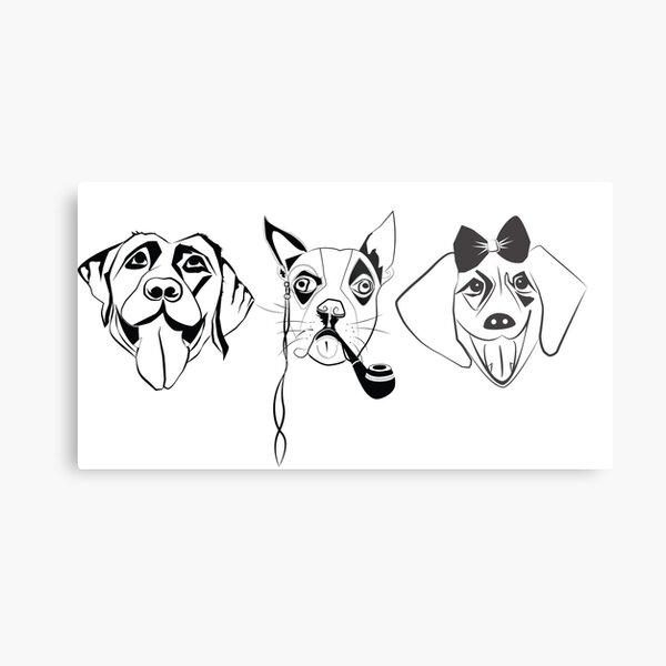 3 dogs horizinal Metal Print