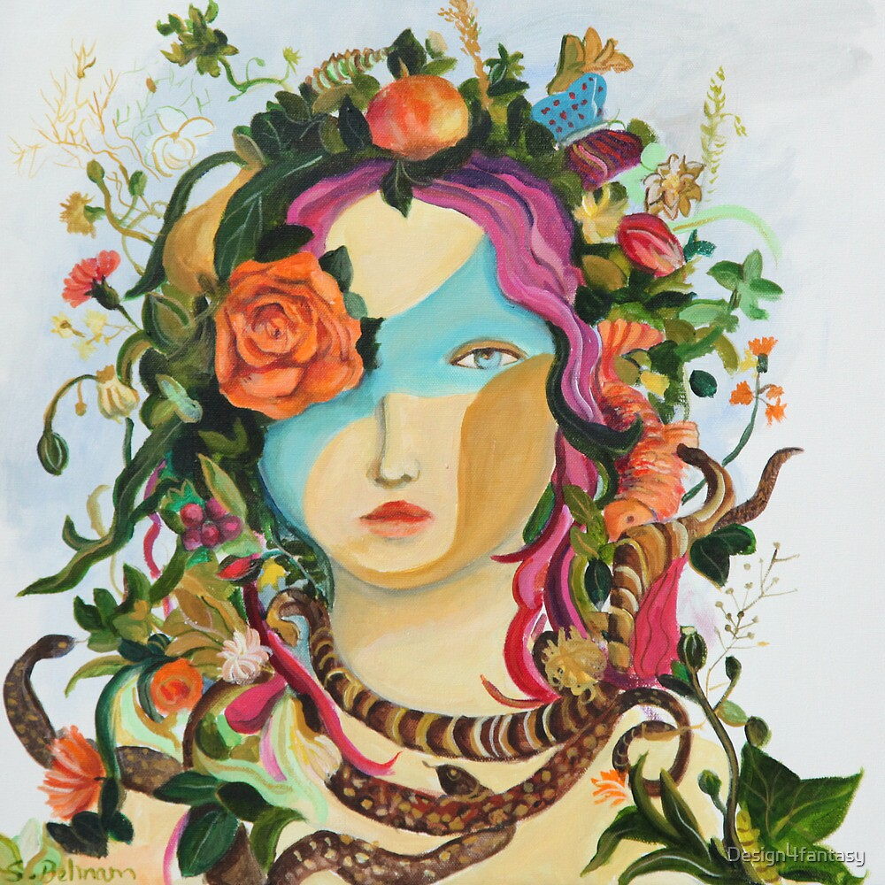 Woman- mask-Flower by Design4fantasy