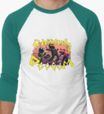 Carnival of Doooom w/Text Men's Baseball ¾ T-Shirt