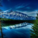 Rundle Mountain Reflections by Justin Atkins