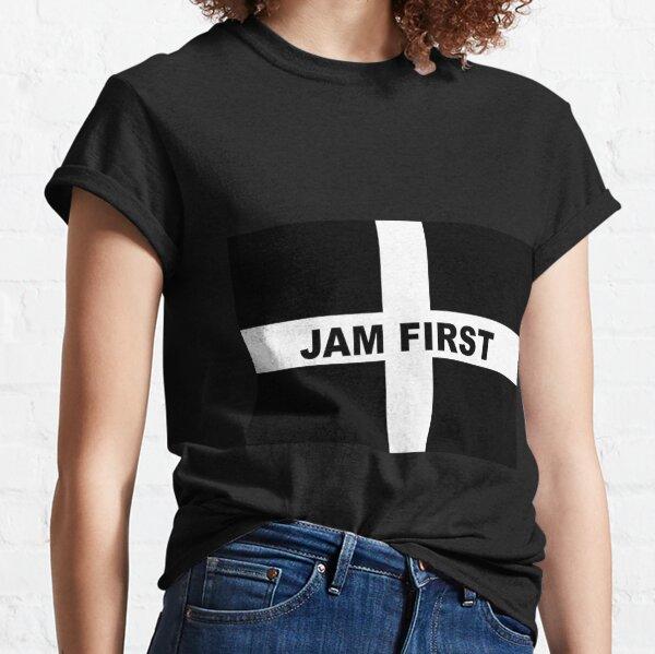 Cornwall Jam First - Kernow Saint Piran's Cornish Flag T-Shirt, Poster, Mask, Sticker, Print etc Classic T-Shirt
