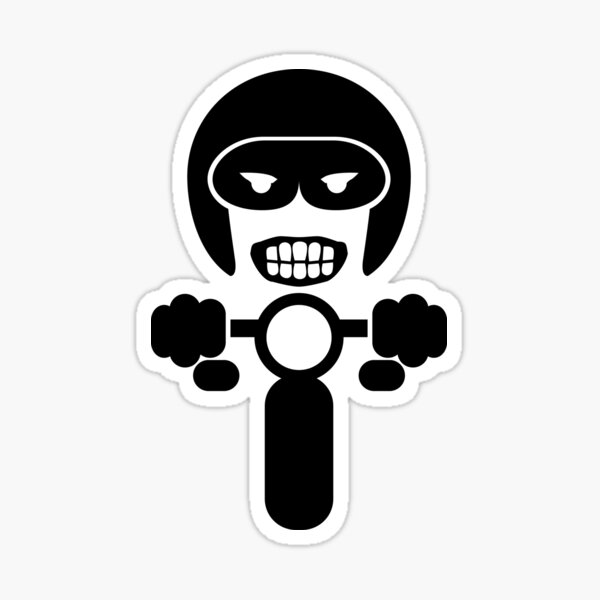 Motorcycle rider Decal V.2 Sticker