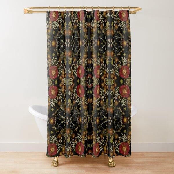 DarkFloral Red Rose Garden Shower Curtain