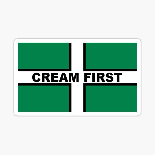 Cream First Devon Flag of Saint Petroc Statement T-Shirt, Poster, Sticker, Print, poster etc Sticker