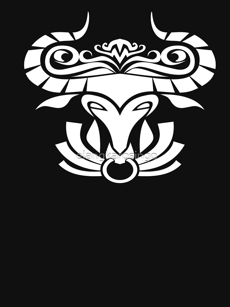 Zodiac Sign Taurus White by elangkarosingo