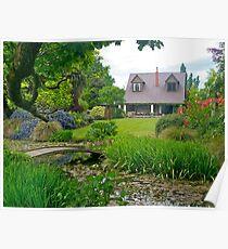 Flaxmere Garden, Canterbury, South Island, NZ. Poster