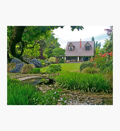 Flaxmere Garden, Canterbury, South Island, NZ. Photographic Print