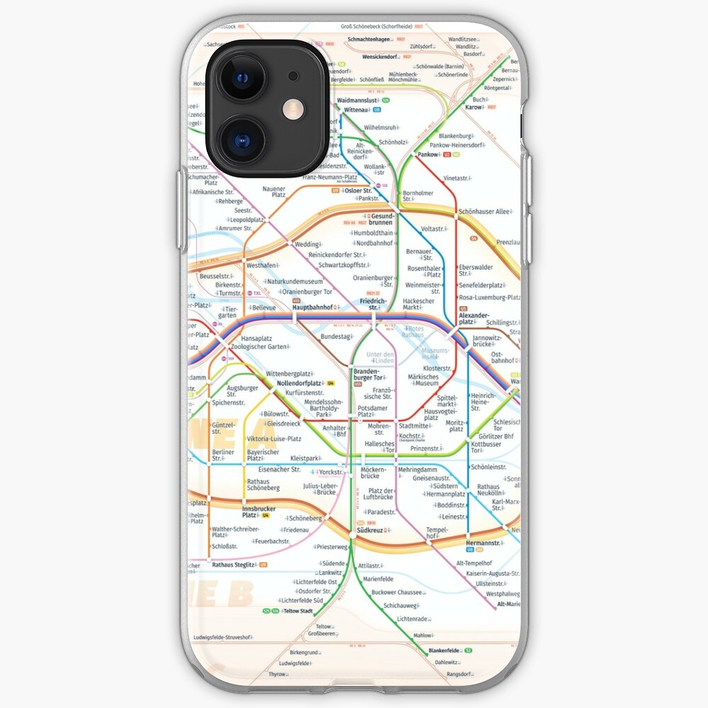 New Berlin rapid transit route map (December 15, 2019) iPhone Case & Cover