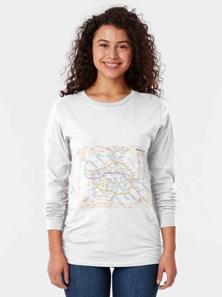 Alternate view of New Berlin rapid transit route map (December 15, 2019) Long Sleeve T-Shirt