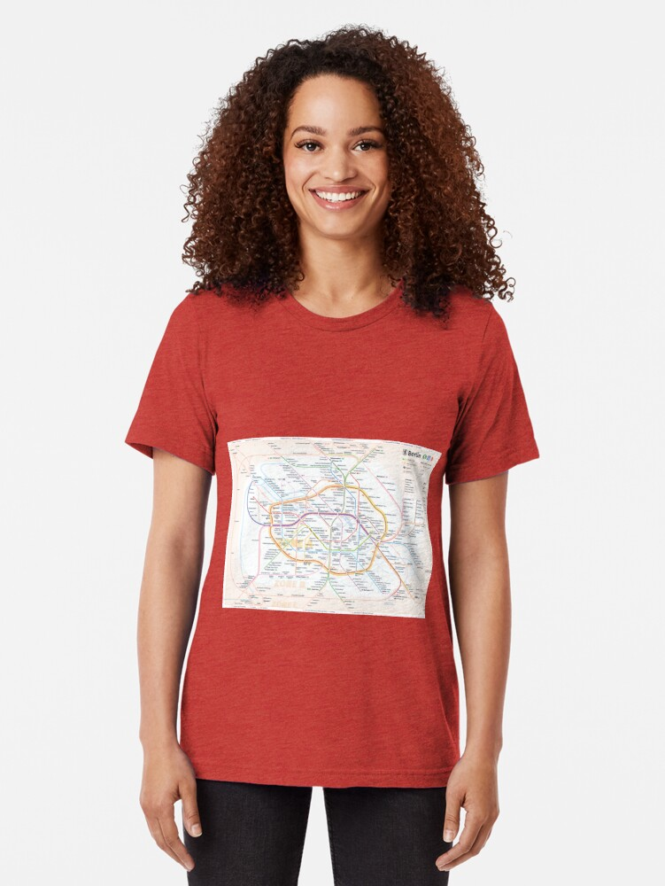 Alternate view of New Berlin rapid transit route map (December 15, 2019) Tri-blend T-Shirt