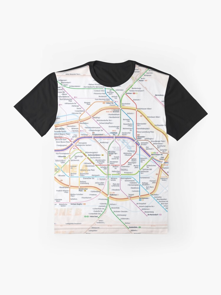 Alternate view of New Berlin rapid transit route map (December 15, 2019) Graphic T-Shirt