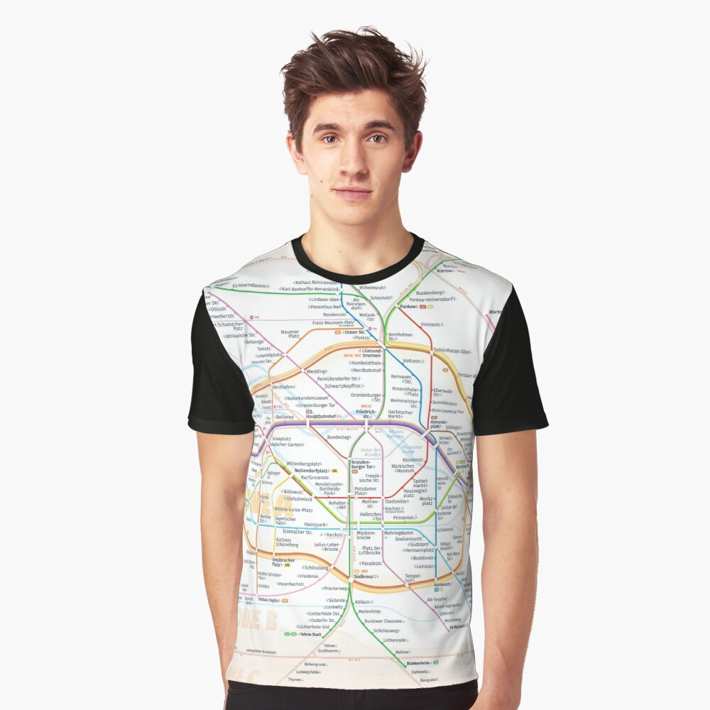 New Berlin rapid transit route map (December 15, 2019) Graphic T-Shirt