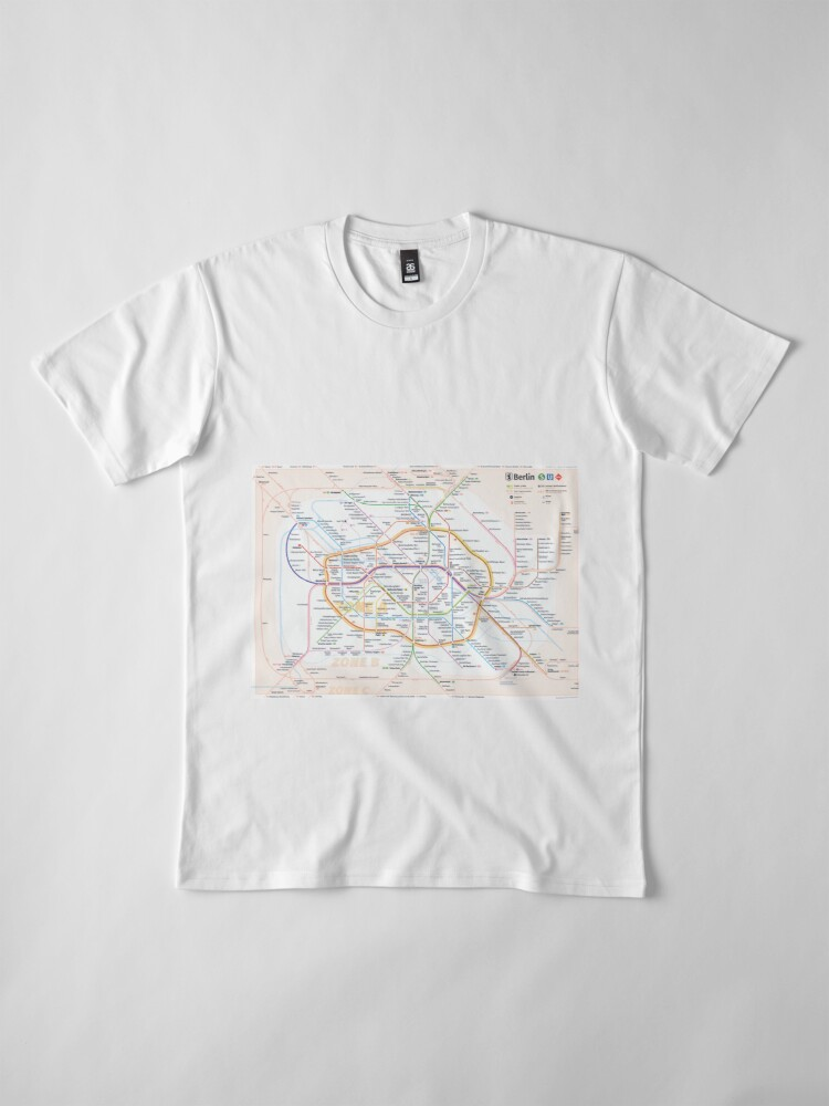 Alternate view of New Berlin rapid transit route map (December 15, 2019) Premium T-Shirt