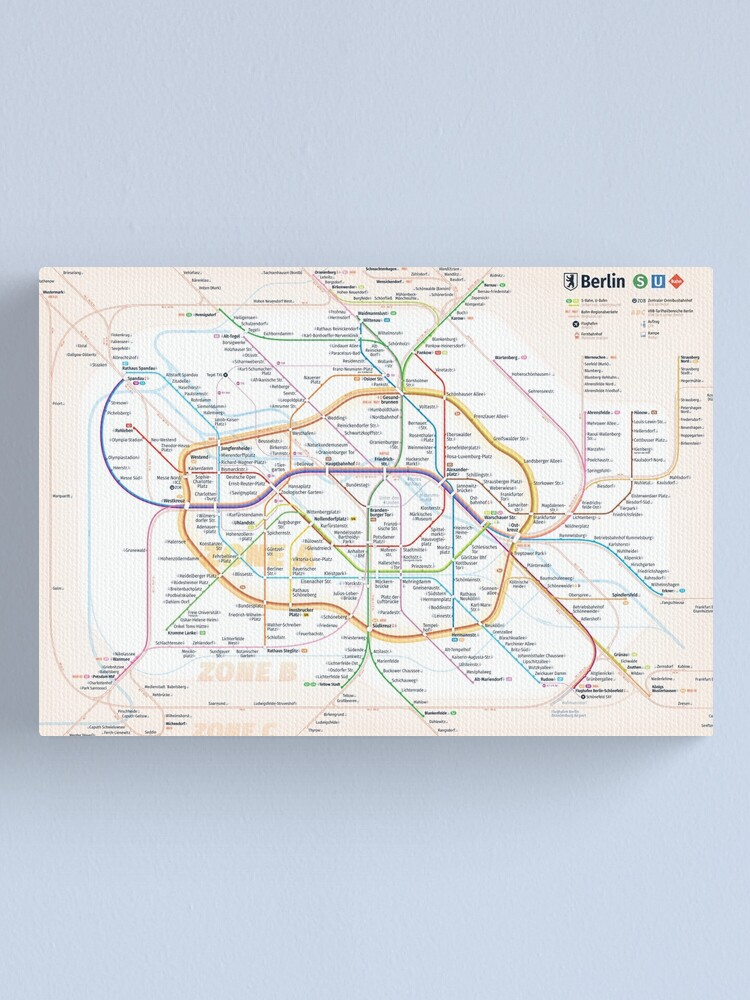 Alternate view of New Berlin rapid transit route map (December 15, 2019) Canvas Print