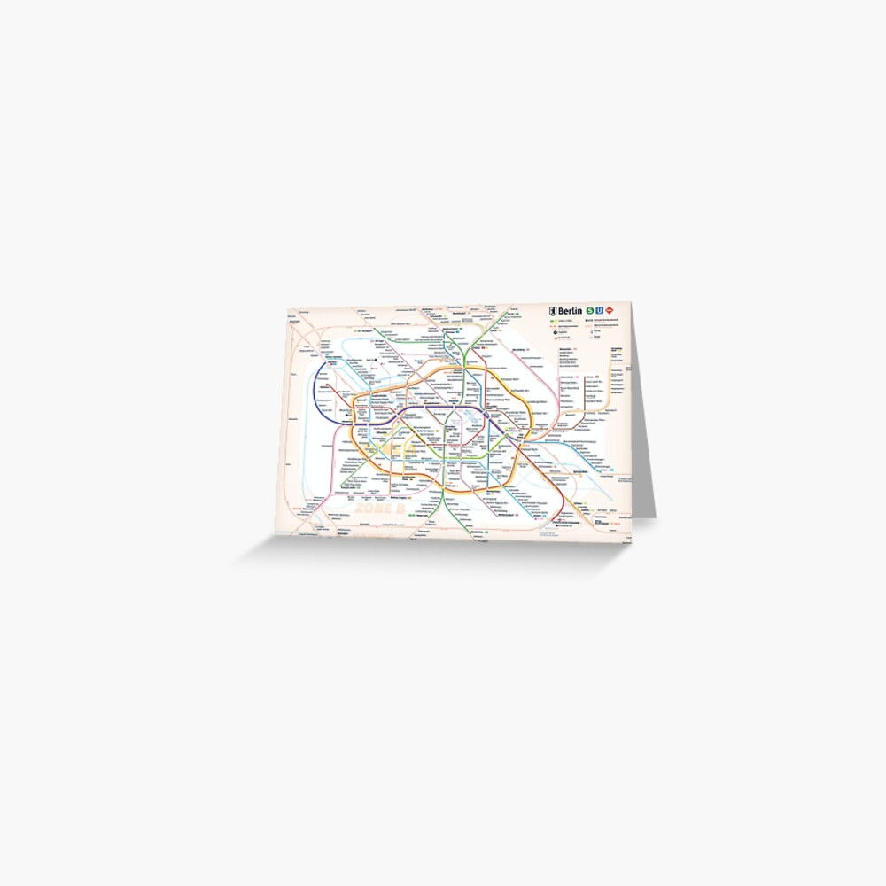 New Berlin rapid transit route map (December 15, 2019) Greeting Card
