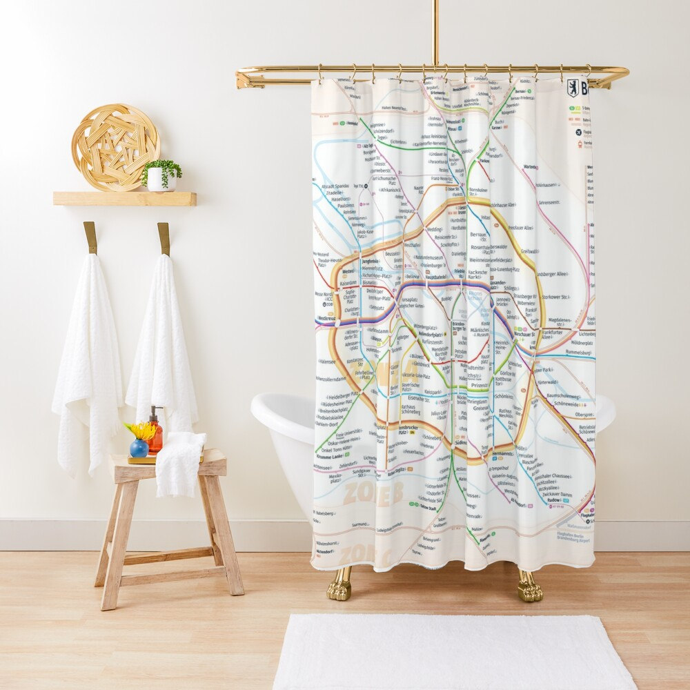 New Berlin rapid transit route map (December 15, 2019) Shower Curtain