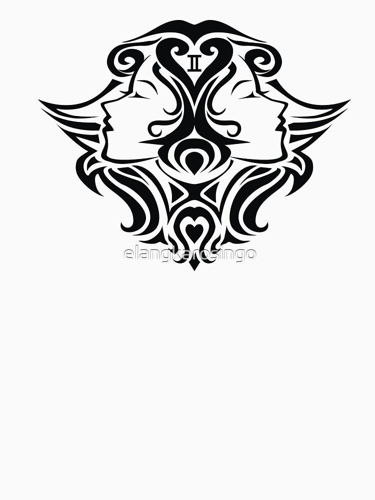 Zodiac Sign Gemini Black by elangkarosingo