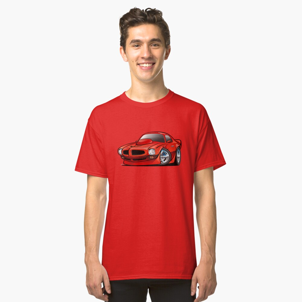 Classic Seventies American Muscle Car Cartoon Classic T-Shirt