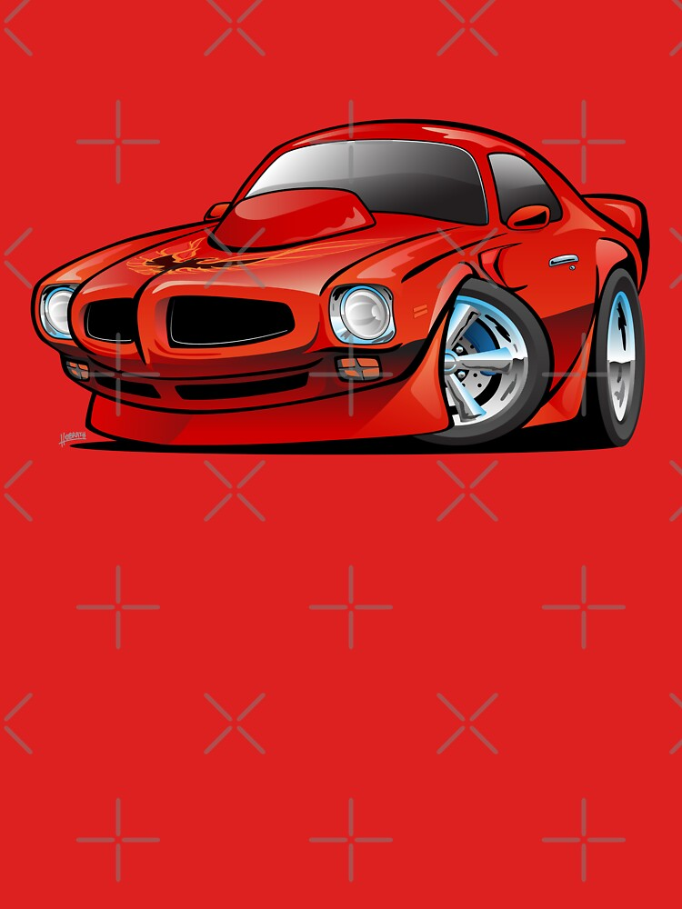 Classic Seventies American Muscle Car Cartoon by hobrath