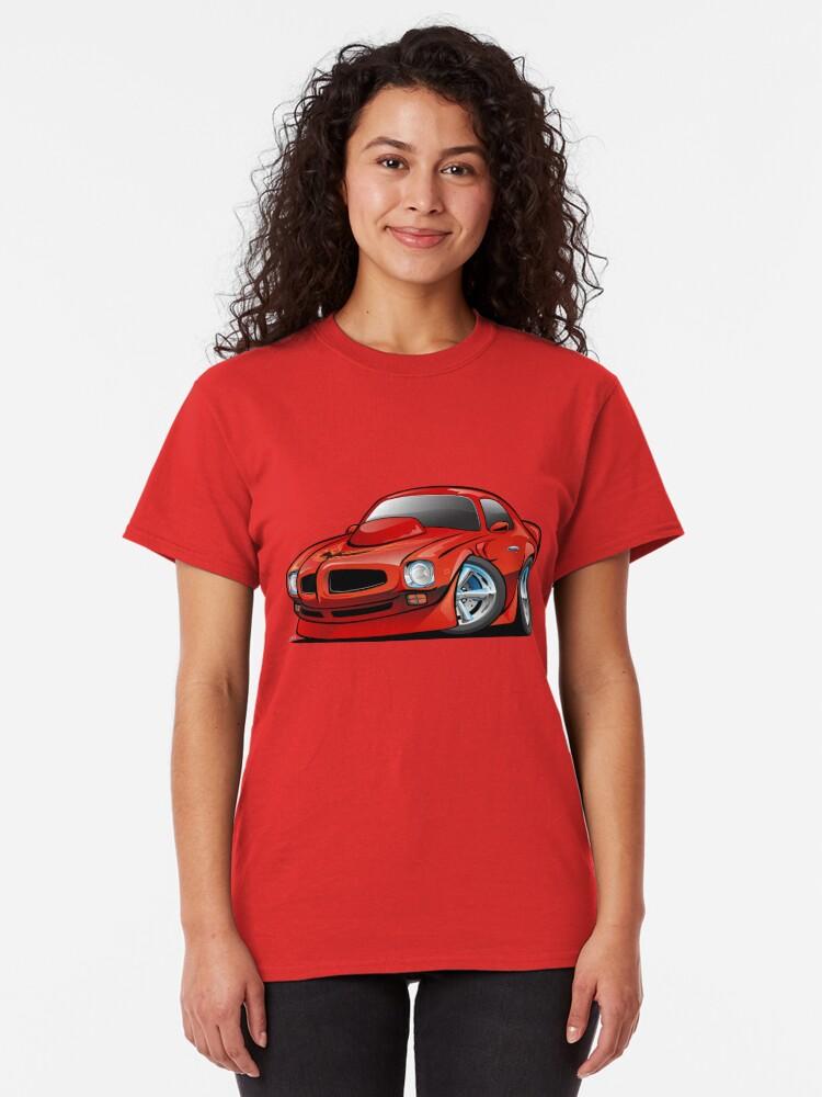 Alternate view of Classic Seventies American Muscle Car Cartoon Classic T-Shirt