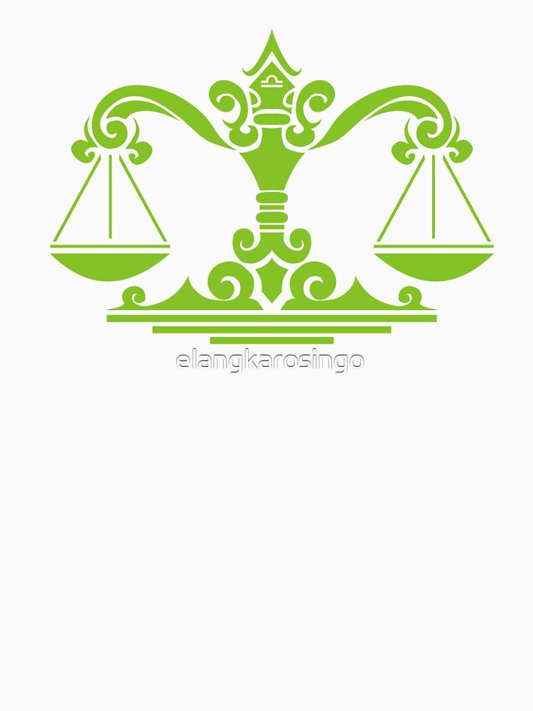 Zodiac Sign Libra Green by elangkarosingo