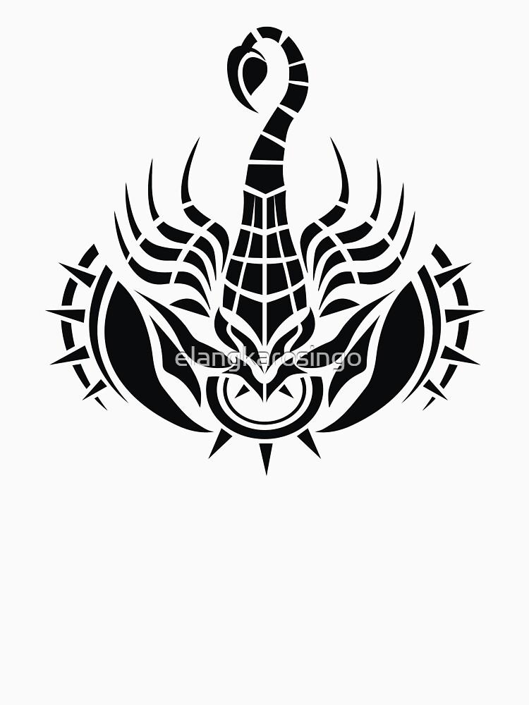 Zodiac Sign Scorpio Black by elangkarosingo
