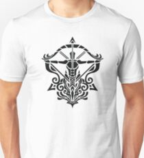 Zodiac Sign Sagitarius Black  Unisex T-Shirt