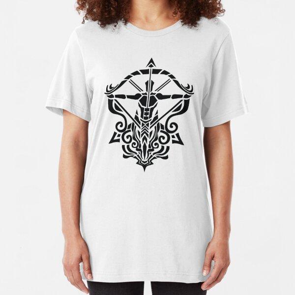 Zodiac Sign Sagitarius Black  Slim Fit T-Shirt