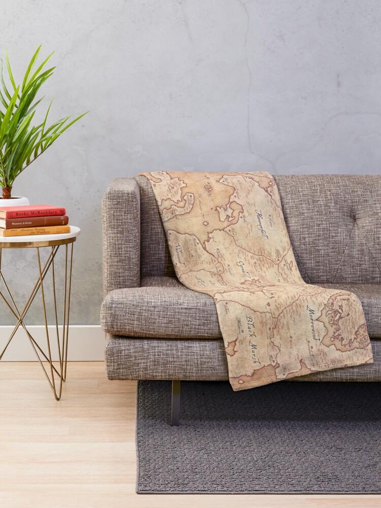 Alternate view of Tamriel Throw Blanket