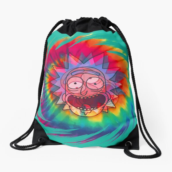 Spun - Out Hippie Rick ~ Music Festival - Rick and Morty™ Drawstring Bag