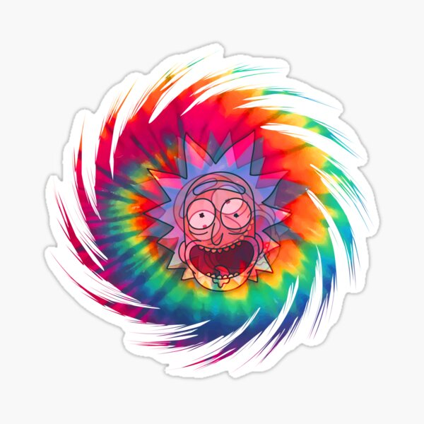 Spun - Out Hippie Rick ~ Music Festival - Rick and Morty™ Sticker