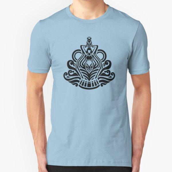 Zodiac Sign Aquarius Black Slim Fit T-Shirt
