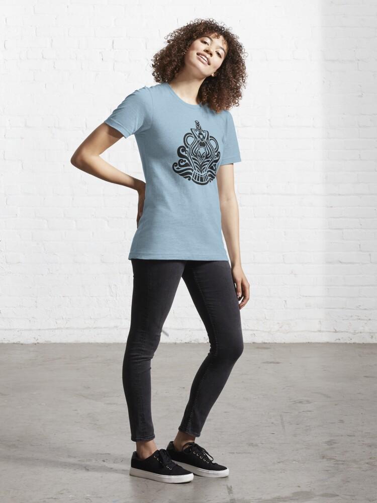Alternate view of Zodiac Sign Aquarius Black Essential T-Shirt
